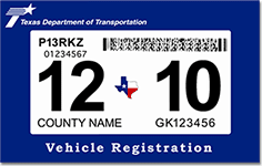Vehicle Registration Tag